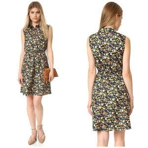 Tory Burch Floral 100% Silk Ryder Dress Size 10